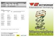 Preisliste aussen - WS-Skyworker