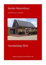 Becker Massivhaus - Hauskatalog
