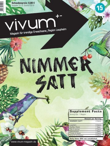 Vivum 15 | NIMMER SATT