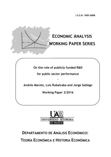 economic analysis a research paper series The department's social policy research paper series superseded the  data  and analysis that stem from major research projects and evaluations  the  economic and social value of present patterns of volunteering in.