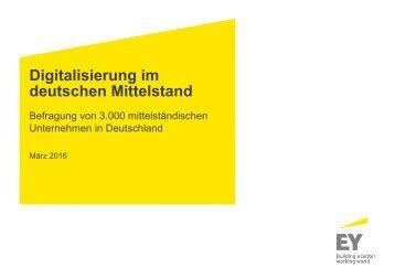 Digitalisierung im deutschen Mittelstand