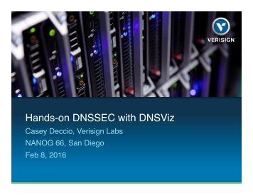 Hands-on DNSSEC with DNSViz
