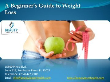 A Beginner's Guide to Weight Loss