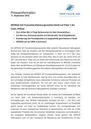 11.09.2012 Pressemitteilung INFINUS AG ...