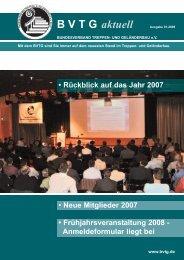 BVTG aktuell - BVTG - Bundesverband Treppen- und Geländerbau eV