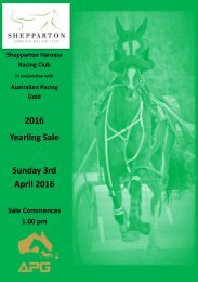2016 Yearling Sale Sunday 3rd April 2016