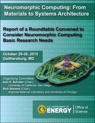Neuromorphic Computing From Materials to Systems Architecture