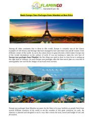 Book Europe Tour Packages from Mumbai at Best Price