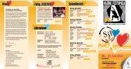 Stadtjugendpflege, kleine Festspiele, Flyer 2016