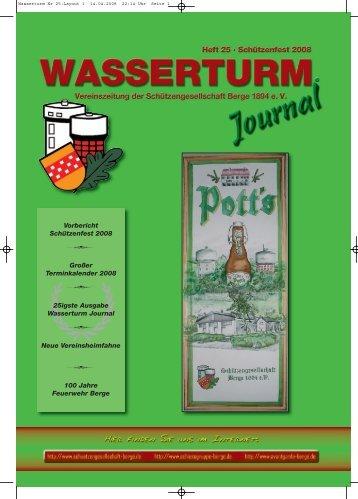 Wasserturm Nr 25:Layout 1 - Schützengesellschaft Berge von 1894 ...