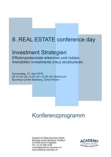 Programm Investment Strategien