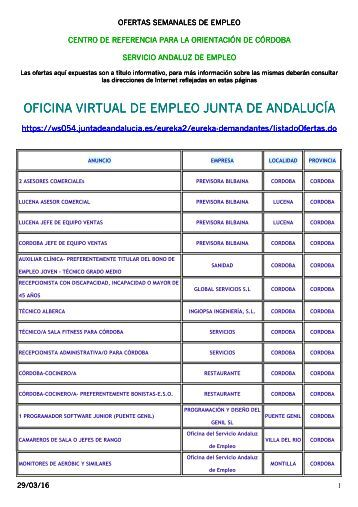 Oficina virtual de empleo junta de andaluc a for Oficina virtual junta