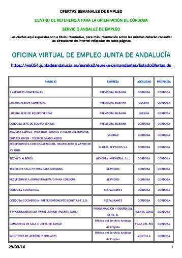 Oficina virtual de empleo junta de andaluc a for Junta de andalucia educacion oficina virtual