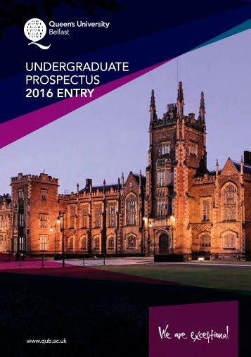 Undergraduate Prospectus 2016 entry