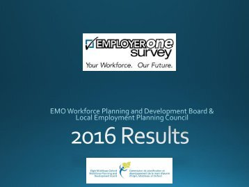 2016 Employer One Sample | Main sector
