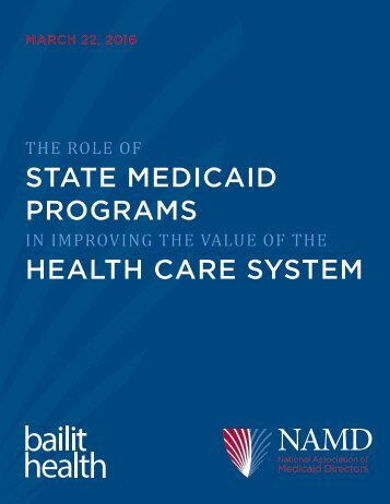 STATE MEDICAID PROGRAMS HEALTH CARE SYSTEM
