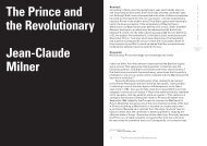 The Prince and the Revolutionary Jean-Claude Milner