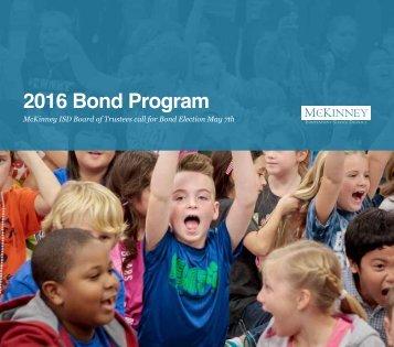 2016 Bond Program