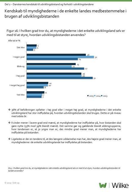 kendskab til udviklingsbistand og forholdene i udviklingslandene