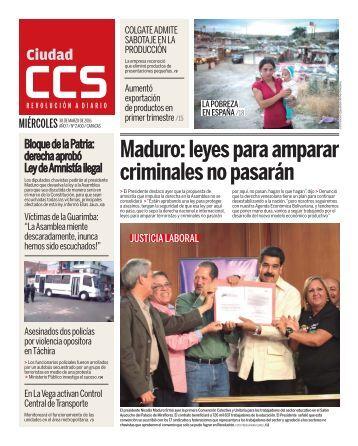 Maduro leyes para amparar criminales no pasarán