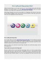 Hvor å spille gratis Bingo gamings Online?