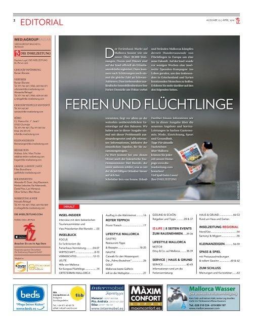 Die Inselzeitung Mallorca April 2016