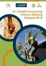 12 CAADP Partnership Platform Meeting Delegate Brief