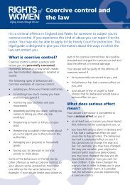 Coercive control and the law