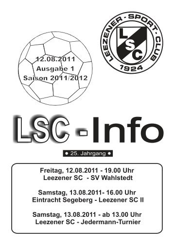 LSC-Info Ausgabe 1 - Saison 2011/2012 - Leezener SC