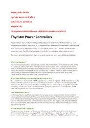 Thyristor Power Controllers