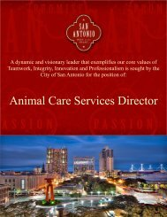 Animal Care Services Director