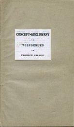 Concept-Reglement op de Veenderijen in de provincie Utrecht