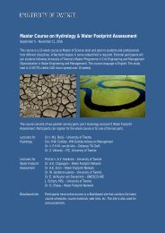 Master Course on Hydrology & Water Footprint Assessment