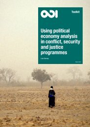 Using political economy analysis in conflict security and justice programmes