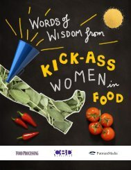 A KICK-ASS WOMAN IN THE FOOD AND BEVERAGE INDUSTRY…