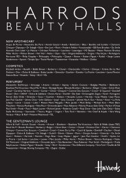 BEAUTY HALLS - The Press Office - Harrods