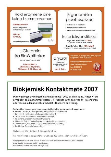 Download - Norsk biokjemisk selskap