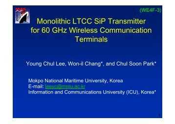 60 GHz LTCC SoP module integrating all transmitter
