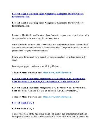 FIN 571 Online Help,FIN 571 Course Tutorials,FIN 571 UOP Guide