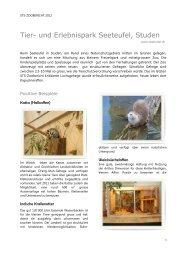 STS-Zoobericht 2012, Tier- und Erlebnispark Seeteufel, Studen