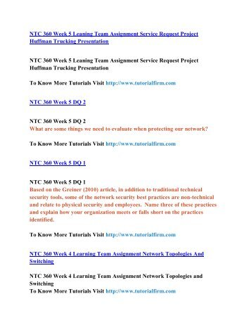 NTC 360 Online Help,NTC 360 Course Tutorials,NTC 360 UOP Guide