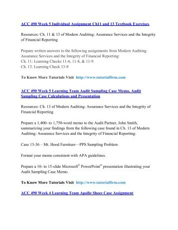 ACC 490 UOP Course,ACC 490 UOP Materials,ACC 490 UOP Homework
