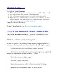 CPMGT 300 UOP Course,CPMGT 300 UOP Materials, UOP Homework