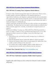 EDU 305 UOP Course,EDU 305 UOP Materials,EDU 305 UOP Homework