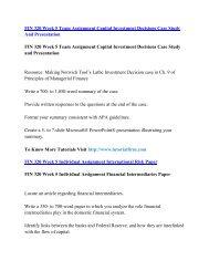 FIN 320 UOP Course,FIN 320 UOP Materials,FIN 320  UOP Homework