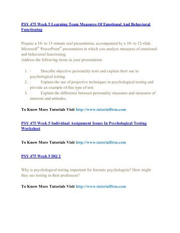 PSY 475 UOP Course,PSY 475 UOP Materials,PSY 475 UOP Homework