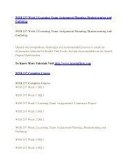 WEB 237 UOP Course,WEB 237 UOP Materials,WEB 237 UOP Homework