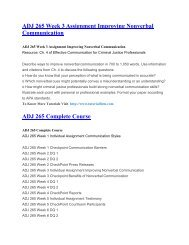 ADJ 265 UOP Tutorials,ADJ 265 UOP Assignments,ADJ 265 UOP Entire Class