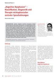 """Kognitive Dysphasien"" – Klassifikation, Diagnostik und Therapie ..."