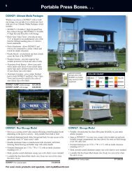 Portable Press Boxes. . . - AAE: Track and Field Equipment